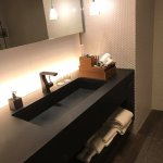 The bathroom had a full traditional wooden tub and a separate shower, spacious counters
