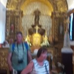 Inside the church in Querence