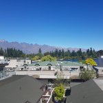 Views of The Remarkables from 3 bedroom apartment. Great location right in the heart of Queensto