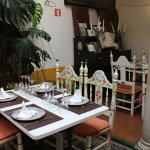 Patio interior restaurante la cueva