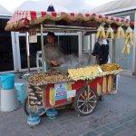 Street vendor selling roasted chestnuts and corn Eminöu, Sultanahmet District, Istanbul 7/11-201