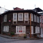 Old Turkish style wooden house in side street, Sultanahmet District 7/11-2017.