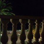 sunset sitting on terrace