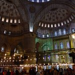 Inside the Blue Mosque, Sultanahmet District, Istanbul 7/11-2017.