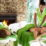Couples massage with professional therapist