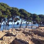 Empuries ruins towards the sea and Girona