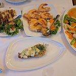 Prawns, Calamari and Lobster - YUM!
