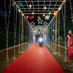 The tunnel for the bride and groom