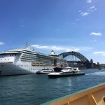 View of Harbour bridge from ferry