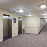 Guest floor corridor