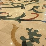 Inlaid flooring with Mickey details