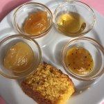 Breakfast - nice moist cake & jams