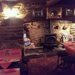 The dining area with a nice view of the fire!