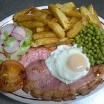 Gammon with egg OR pineapple