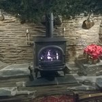 A warm cosy fire place