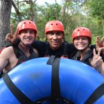 River tubing with our favorite guide Martinez.
