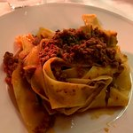 Papardelle with wild boar sauce