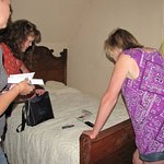Capturing evidence in the upstairs bedroom