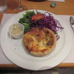 Quiche Lorraine and a side salad