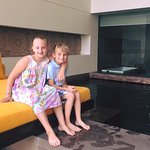 Kids by room pool