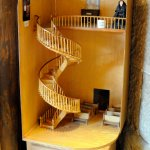 A model of the staircase in the ante room.