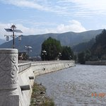 The Daxia River flows right next to the monastery, down to join the Yellow River