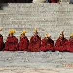 Monks of the Yellow Hat Buddhist faith..