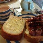 Amazing sausage sandwich!