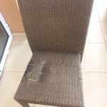 Broken patio seat