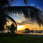 Sunrise at the dock of Grand Caribe