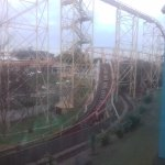 My bedroom view of deserted pleasure beach
