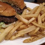 Outback burger and fries.