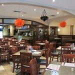 Main dining area at Kapetan