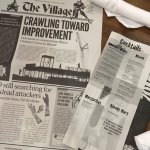 Newspaper menu tells the story of the zombie apocalypse.