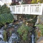 Walk way over waterfall area to the hotel's sister accommodation - Columbia Cliff Condo's