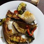 baccalà con verdure grigliate