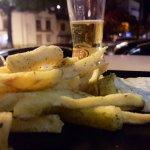 Maravilhosas chips e Hambúrguer vegetariano.