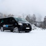One of our minibuses that will take you to the slopes