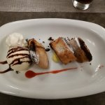 Imqaret (Maltese date fritters) with ice cream