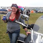 Me & my bike in 2014 at the campsite (our site not in the picture)