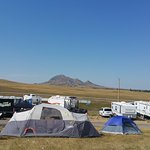 View of Bear Butte from the campground