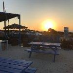 Evening sun at searays