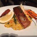 Salmon and pumpkin risotto