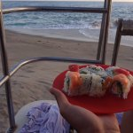 sushi on the beach #danakai (courtesy picture of @killamitchyviewz)