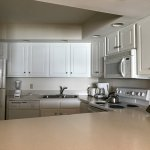 Kitchen has all major appliance, flatware, dishes and cookware