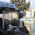 Cherry Cafe overlooking Gulf Harbour Marina