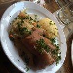 Pork with potatoes and sauerkraut