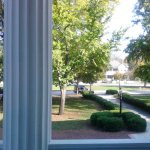 Looking from the front porch