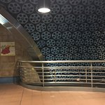 A Los Angeles metro stop's ceiling composed of movie reels!