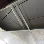 Stairwell ceiling dripping and dropping, Days Inn Portage La Prairie, Portage la Prairie, MB